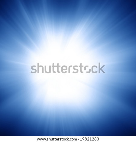 Sun in a clear blue sky with soft rays