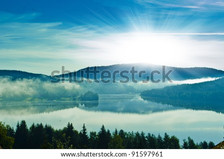 sun light - stock photo