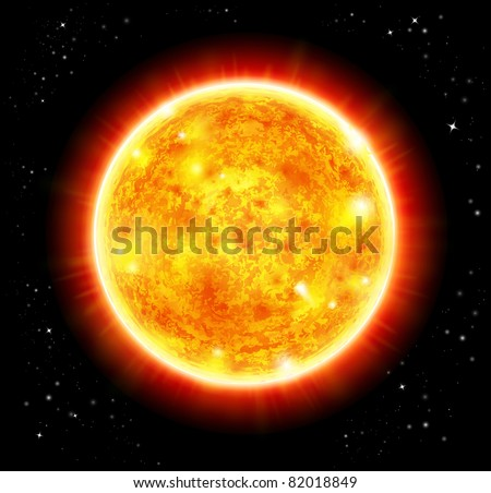 Sun - Raster version - stock photo