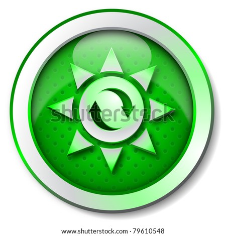 Sun renewable energy icon - stock photo