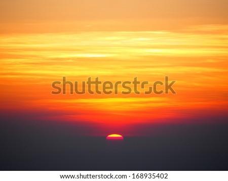 "Sun rise scene at ""Chiang Dao"" mountain, Thailand - stock photo"
