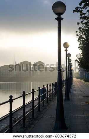 Sun rising over Preston Docks light flooding onto water looking along lines of l&s & Preston Stock Images Royalty-Free Images u0026 Vectors | Shutterstock azcodes.com