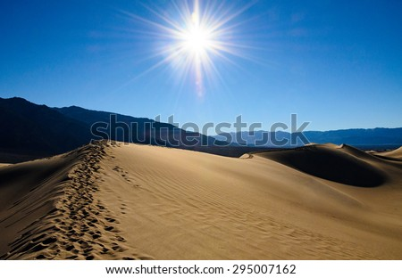 Sun Scorched Landscape of Death Valley - stock photo