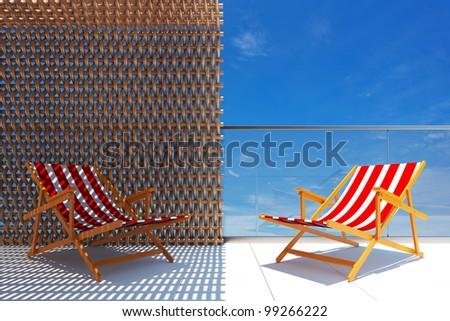Sun&Shade concept - stock photo