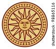 sun - sign, symbol - stock photo