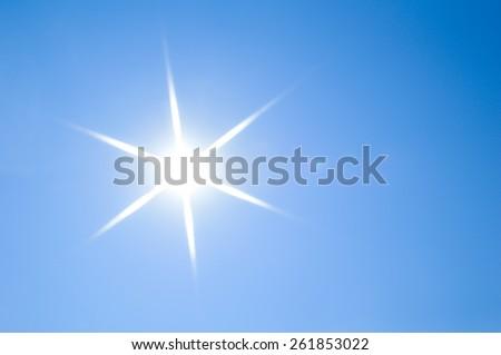 Sun sky - stock photo