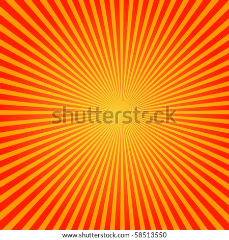 Sun Starburst Pattern - stock photo