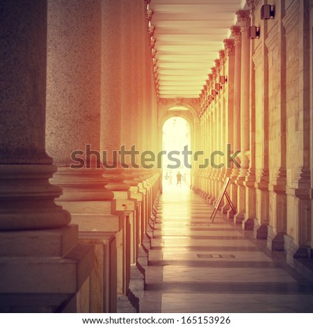sun way abstract background - stock photo