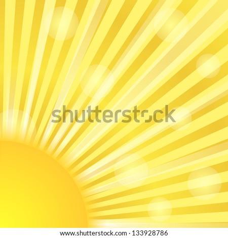 Sunburst - stock photo