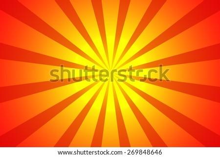 Sunburst background - stock photo
