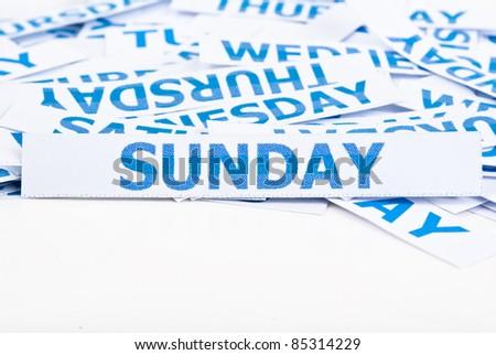 Sunday word texture background. - stock photo