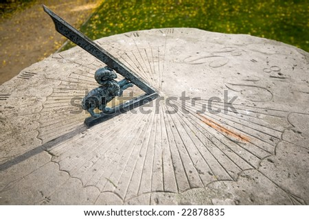 Sundial in Radziejowice, Poland - stock photo