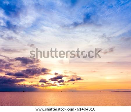Sundown Cloudscape - stock photo