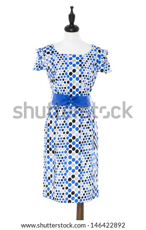 sundress in female clothes on a dummy  - stock photo