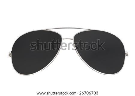 sunglasses isolated 3 - stock photo