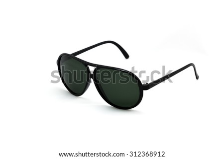Sunglasses isolated on white background. - (Selective focus) - stock photo