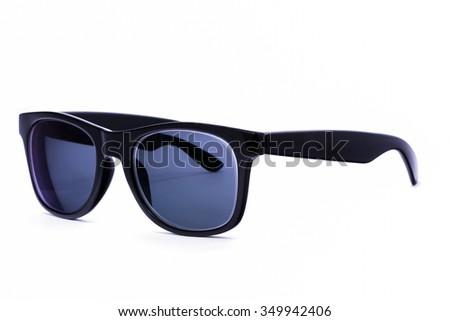 Sunglasses isolated over white background - stock photo