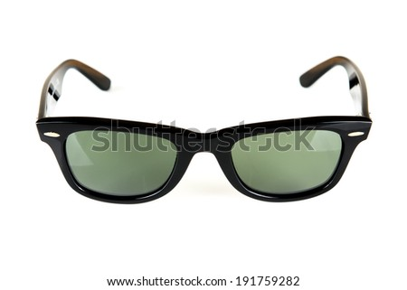 Sunglasses isolated white background