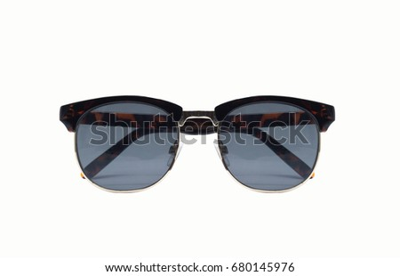 sunglasses on isolated white background.