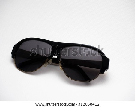 Sunglasses on the white background