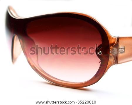 sunglasses on white - stock photo