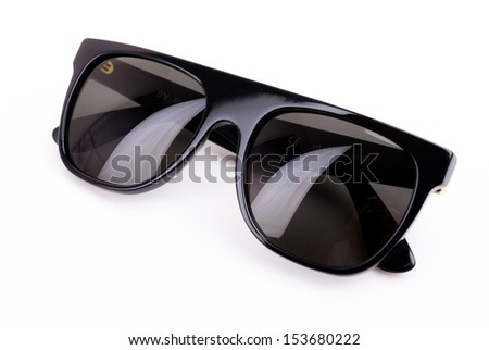 sunglasses on white background - stock photo