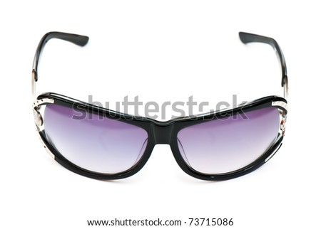 Sunglasses shot isolated on a white background. Studio
