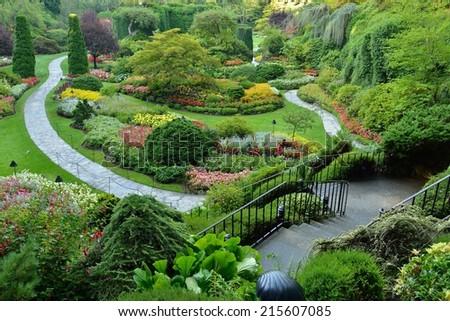 Sunken Garden Butchart Gardens Victoria Bc Stock Photo (Download Now ...