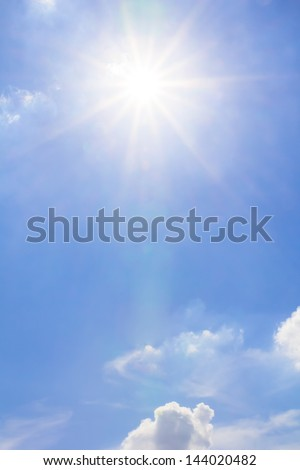 Sunlight and blue sky cloud - stock photo