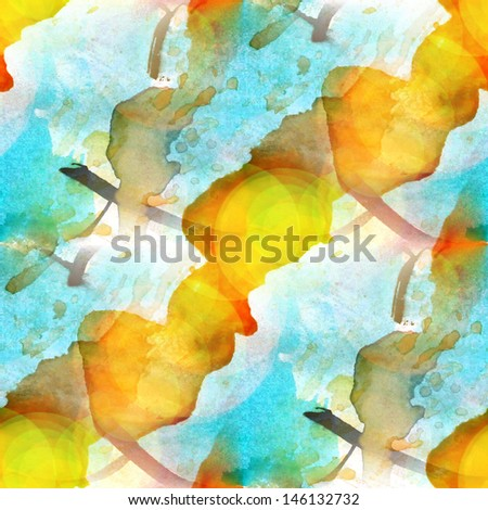 sunlight background watercolour blue, yellow brush texture background