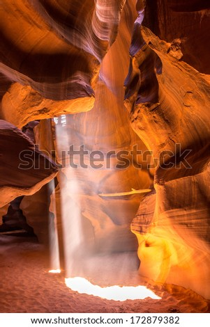 Sunlight in Antelope Canyon
