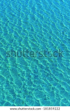 Sunlight Reflection in Blue Water.