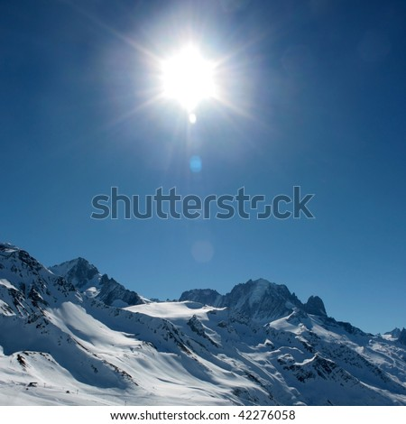 Sunny alps - stock photo