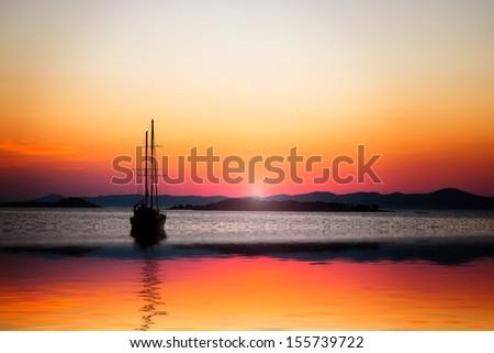 Sunny bay - stock photo