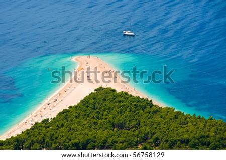 sunny beach in Croatia - stock photo