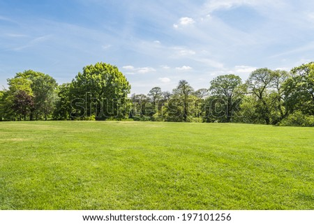 Sunny day in Greenwich park, London UK  - stock photo