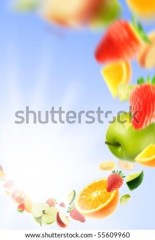 Sunny fruits - stock photo