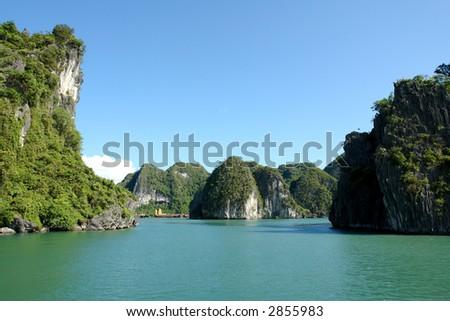 Sunny Ha Long Bay - stock photo