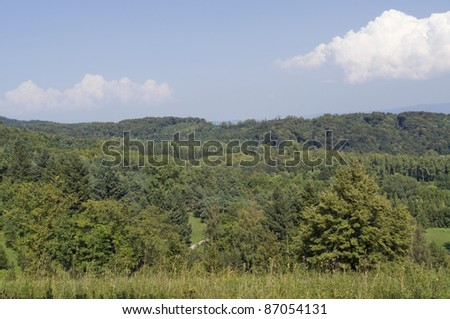 "sunny illuminated scenery around the ""Liliental"" near Ihringen in Southern Germany - stock photo"