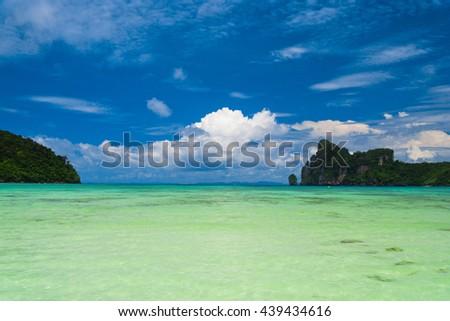 Sunny Panorama Nature And Nobody  - stock photo