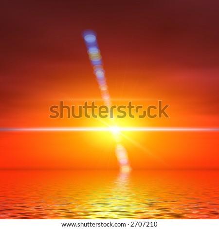 Sunny reflection - stock photo