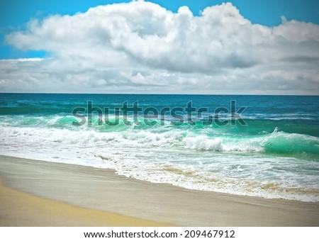 Sunny San Diego Beach, Southern California - stock photo
