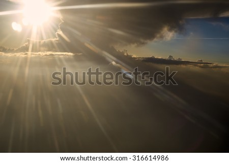 Sunny sky abstract background, beautiful cloudscape