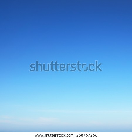 Sunny summer blue sky - stock photo