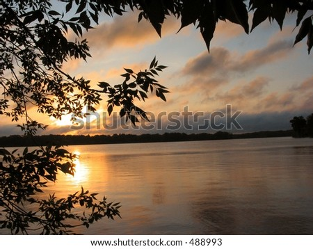 Sunrise After a Storm - stock photo