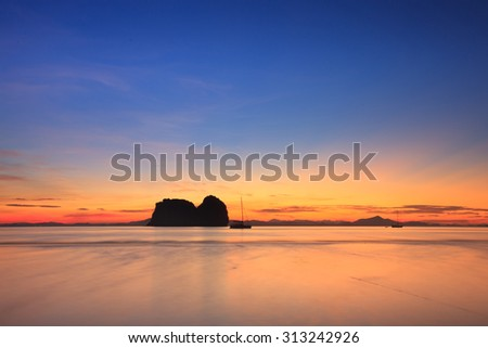 sunrise and beach - stock photo