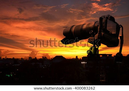Sunrise and sunset for camera