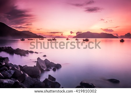 Sunrise at Con Dao Island, Ba Ria Vung Tau Province, Vietnam