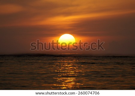 Sunrise at Geger Beach, Bali, Indonesia - stock photo