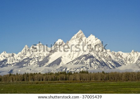 Sunrise at Grand Tetons Wyoming